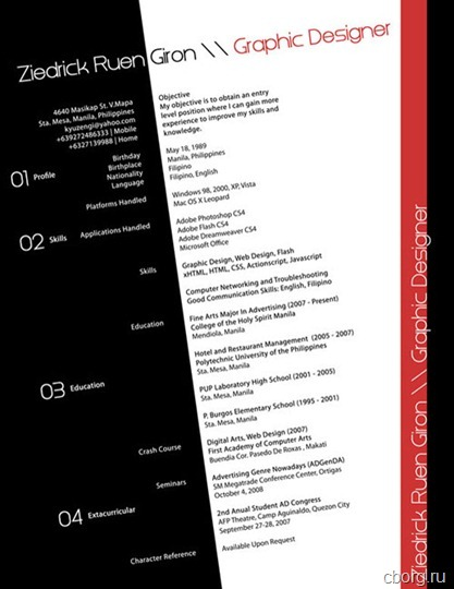 Creative Resume (CV) Designs for Inspiration
