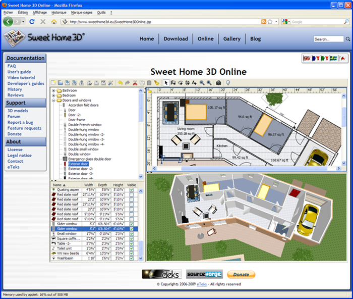 Sweet Home 3D Online Windows